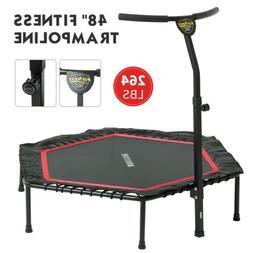 """48"""" Foldable Mini Fitness Trampoline Rebounder Exercise Work"""