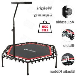 """50"""" Exercise Trampoline for Adults or Kids w/ Adjustable Han"""