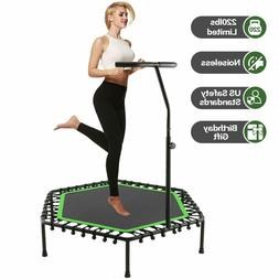 ANCHEER 50'' Fitness Trampoline Silent Rebounder with Handra