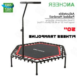 """50"""" Trampoline With Adjustable Handrail Bouncing Workout Exe"""