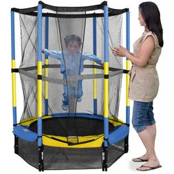 55-Inch My First Trampoline, with Safety Enclosure, Blue 4-8