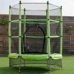 """55"""" Kids Youth Exercise Jump Jumping Trampoline with Safety"""