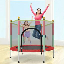 5FT Kids Trampoline With Enclosure Net Jumping Mat And Sprin