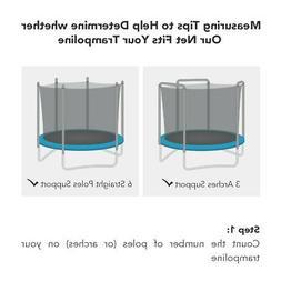 15' Trampoline Net Fits All Brand 3 Arch/6 Pole Enclosure Ne