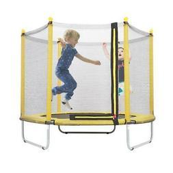 """60"""" Youth Kids Indoor Round Trampoline Jump Mat Toy Safety N"""