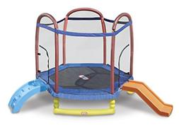 Little Tikes 7 foot Climb n Slide Trampoline with Enclosure