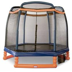 Little Tikes 7-Foot Trampoline Enclosure Blue Orange Play To