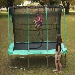 JumpKing 7 x 10-Foot Rectangular Trampoline, with Enclosure,