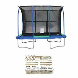 JumpKing 7 x 10 Foot Trampoline and XDP Recreation Metal Gro