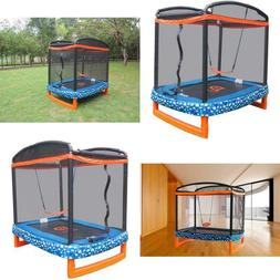 "Jump Power 72"" X 50"" Rectangle Indoor/Outdoor Trampoline  Sa"