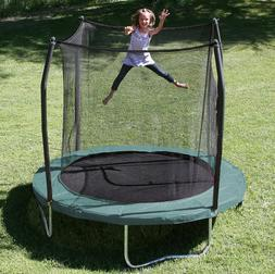 8 round trampoline and enclosure green