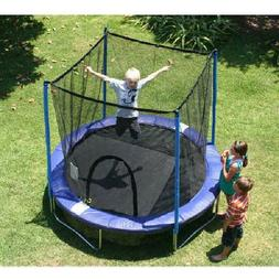 Airzone 8Foot Trampoline,with Safety Enclosure,Blue Backyard