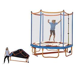 High-quality 7' Folding Jumping Trampoline Children Kids Out