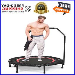 """ANCHEER Foldable 40"""" Mini Trampoline Rebounder with Adjustab"""