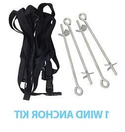 Trampoline Anchor Kit with Straps and Attachment Hardware, W