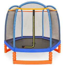 BCP 7ft Kids Indoor/Outdoor Mini Trampoline w/ Safety Net, P