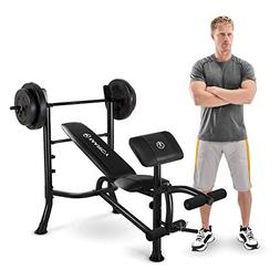 Marcy Standard Weight Bench with 80-lb. Weight Set, Gray, 1
