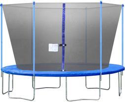 Bestmassage Trampoline With Enclosure Net Ladder Outdoor Fit