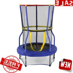 Child Trampoline Safety Net Enclosed Jump Mat Bounce Exercis