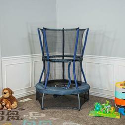 "Children's 60"" In&Outdoor Mini Trampoline Enclosed Net Gappe"