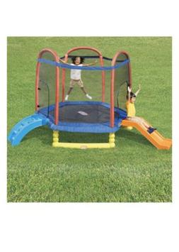 Little Tikes Climb 'n Slide 7-Foot Trampoline, with Enclosur