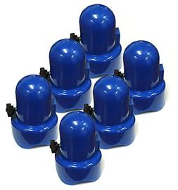 """SkyBound 1.5"""" Diameter Blue Trampoline Pole Caps - Set of 6"""