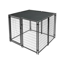 ALEKO Dog Kennel Shade Cover with Aluminum Grommets 5 x 10 F