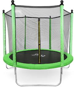 Pure Fun Dura-Bounce 8-Foot Trampoline with Enclosure in Lim