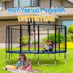 Exacme Easy Assemble Spacious Luxury Fibre pole Round Trampo