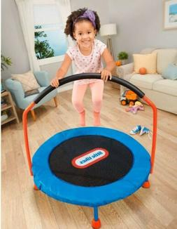 Little Tikes Easy Store 3-Foot Trampoline, With Hand Rail, B