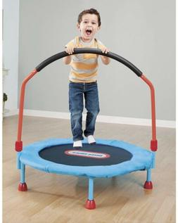 easy store 3ft trampoline with hand rail
