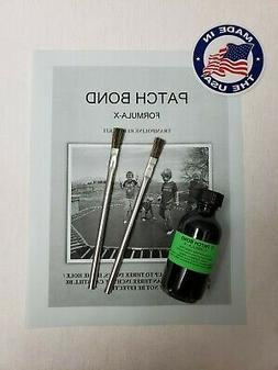 Extra Trampoline Mat Repair Kit Glue 2 Oz. And 2 Brushes-Rep