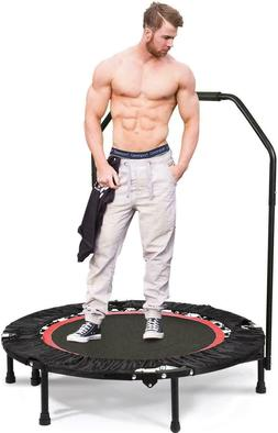 "Fitness Exercise Trampoline with Handle Bar, 40"" Foldable Re"