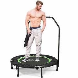 "ANCHEER Fitness Exercise Trampoline with Handle Bar 40"" Fold"
