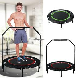 """Fitness Exercise Trampoline with Handle Bar 40"""" Foldable Reb"""