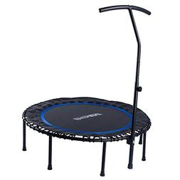 EFITMENT 45-in Fitness Trampoline Rebounder for Exercise wit