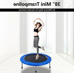 Fitness Trampolines Mini 38' Exercise Workout Foldable With