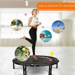 "ANCHEER Foldable 40"" Mini Trampoline Indoor Rebounder Exerci"