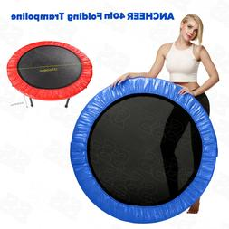 ANCHEER Foldable 40in Round Trampoline Exercise Jumping Boun