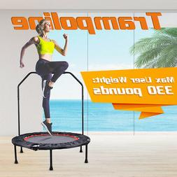 Foldable Mini Fitness Gym Sport Trampoline Safety Handrail 1