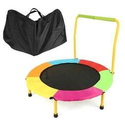 Foldable Toddler Kids Junior Trampoline Boy Girl Indoor Outd