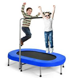 Foldable Trampoline Recreational Double Mini Kid Fitness Reb