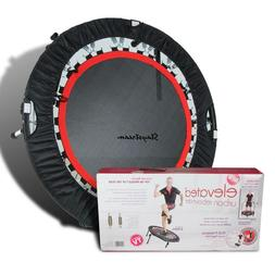 """Folding 40"""" Round Trampoline with Handle bar for Adults Fitn"""