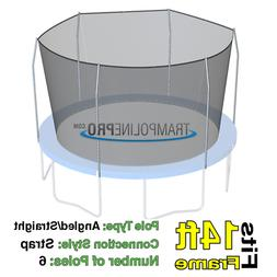 14' Round Trampoline Safety Net for 6 Straight Pole Enclosur