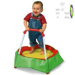 Diggin Hop Mini Toddler Trampoline With Handle. Baby Indoor