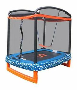 "Jump Power 72"" Indoor/Outdoor Rectangular Trampoline with Sa"