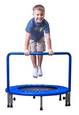 "PLENY 36"" Boys Indoor Trampoline with Handle, Safe Trampolin"