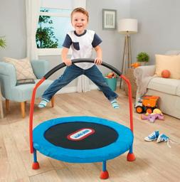 Indoor Trampoline For Kids Toddlers With Handle 3 Ft Small Y