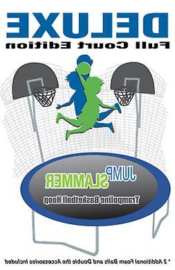 Jump Slammer Trampoline Basketball Hoop Full Court Deluxe Ed