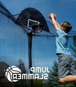 Trampoline Pro Jump Slammer Trampoline Basketball Hoop | Eas